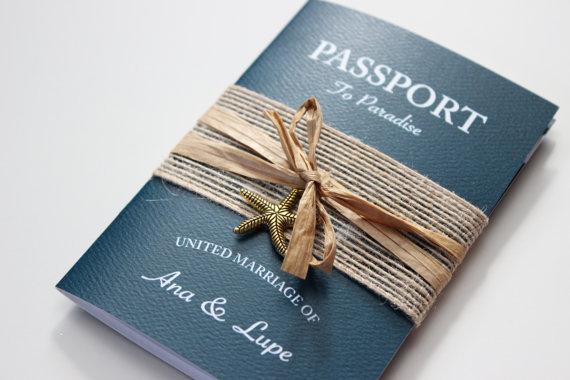 MỘT SỐ MẪU THIỆP CƯỚI DẠNG PASSPORT (HỘ CHIẾU) ĐẸP