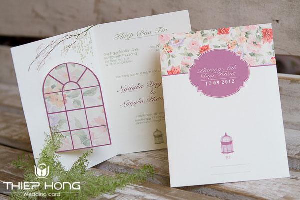 thiệp cưới vintage - thiephong.vn